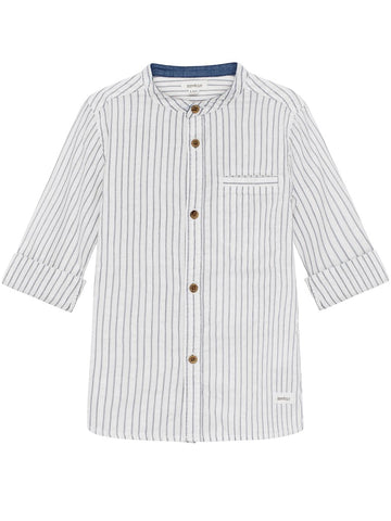 Stripe shirt with turn up cuffs