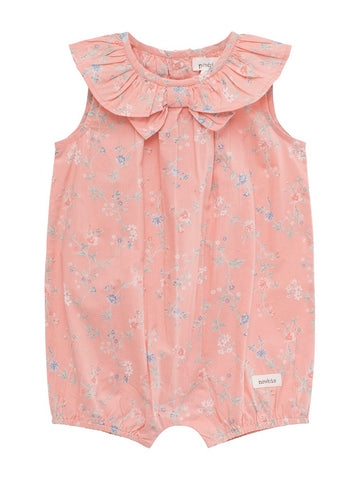 Baby shortie with floral print