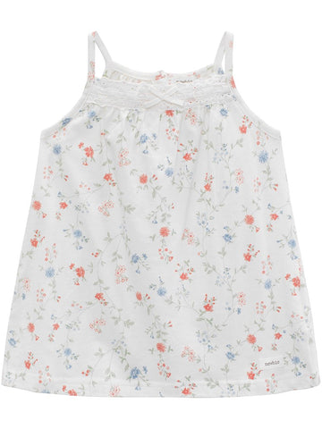 Floral blouse with straps