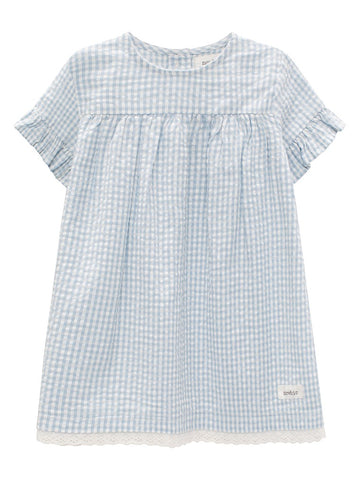 Baby dress with check print