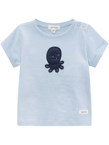 Baby t-shirt with octopus print