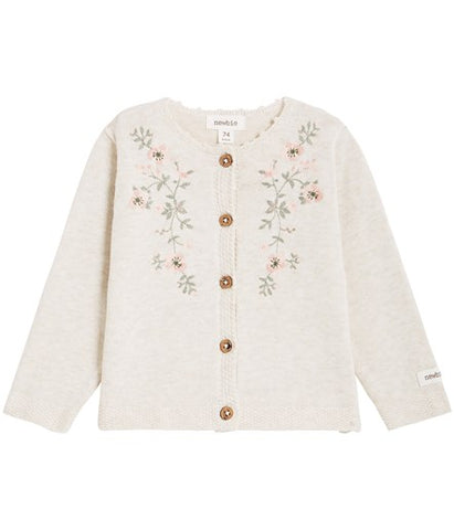 Baby cardigan with floral embroidery