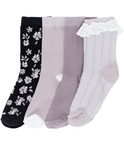 Socks with floral pattern