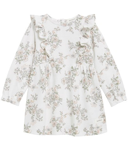 Baby floral dress with ruffles