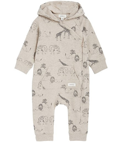 Onesie with wild jungle print