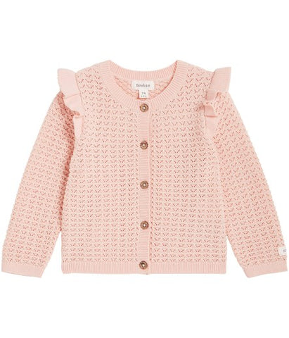 Baby cardigan with frills