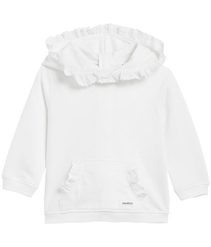 Baby hooded top with frills
