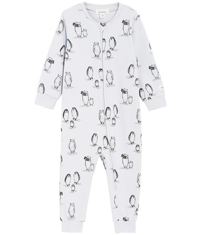 Sleepsuit with penguin print