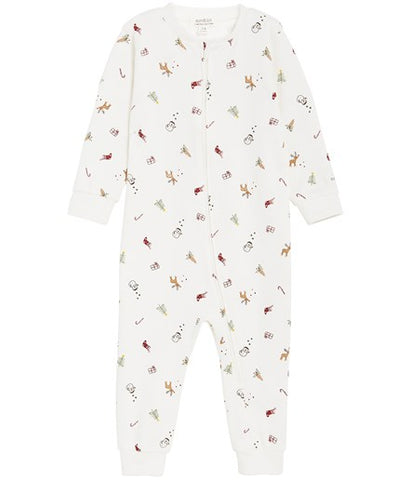 Limited Edition Christmas printed sleepsuit