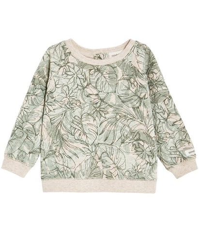 Baby sweatshirt with jungle print