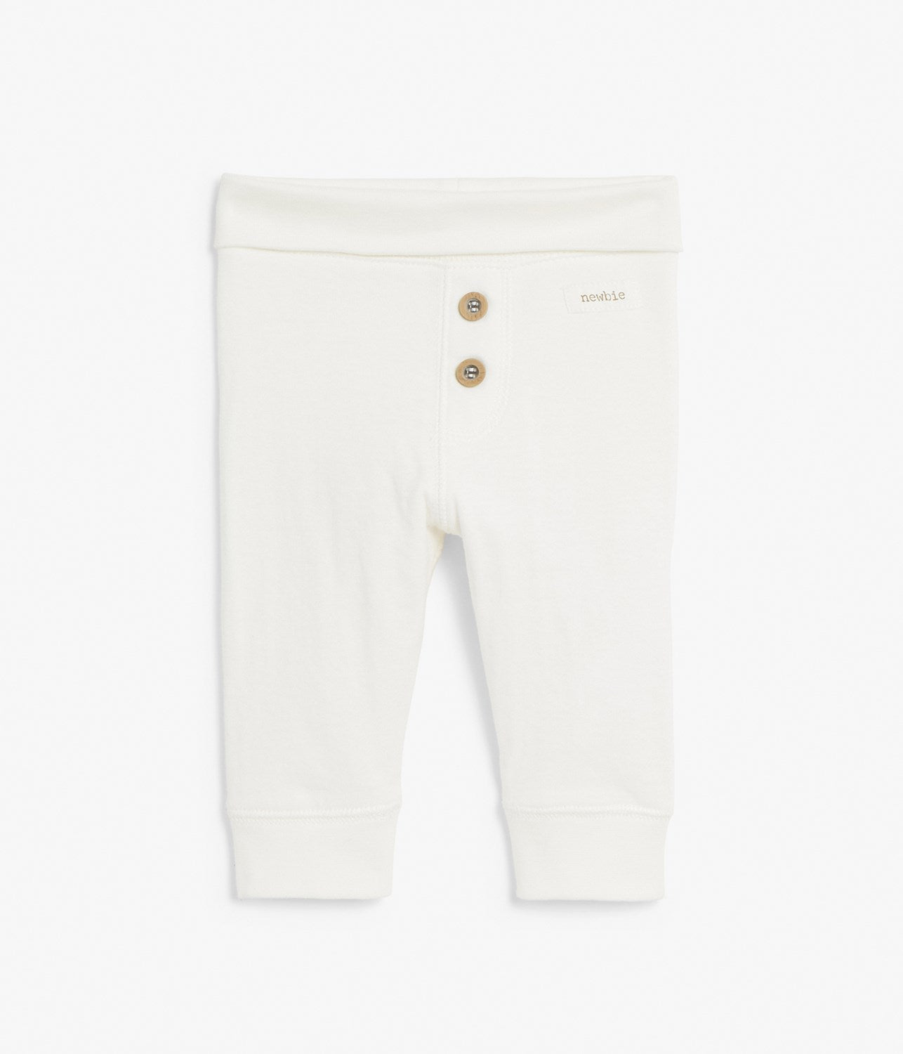 Baby white leggings with buttons