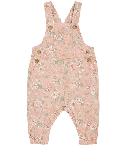 Baby dungarees in floral print