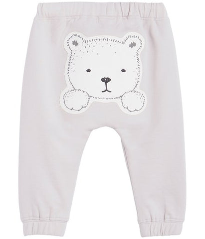 Baby sweatpants with bear patch