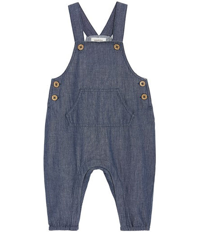 Baby dungarees with front pocket