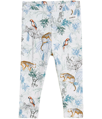 Baby leggings with jungle print