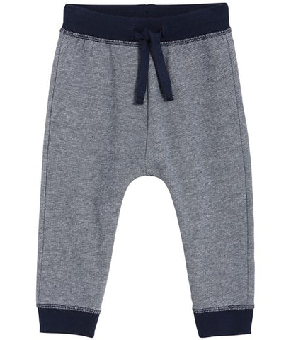 Baby sweatpants with contrast trims