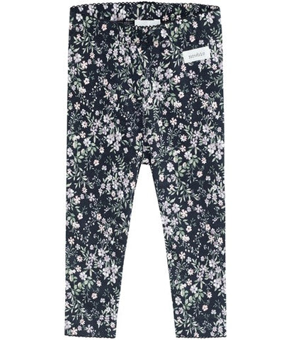 Baby leggings with dainty floral print
