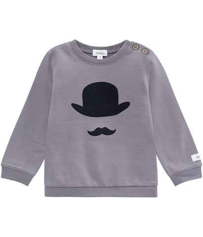 Baby jumper with moustache print