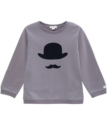 Jumper with moustache print