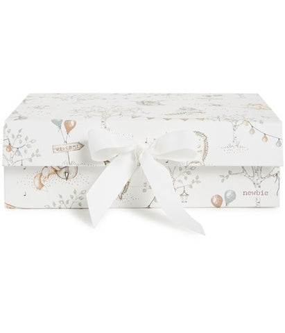 Gift box with musical animal print