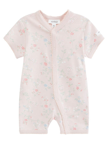 Baby shortie with pink floral print