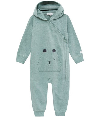 Onesie with bear pocket