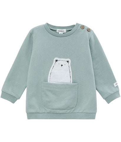 Baby top with animal pocket