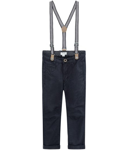 Jeans with detachable braces