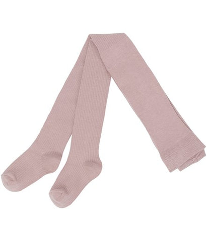 Baby ribbed tights in pink