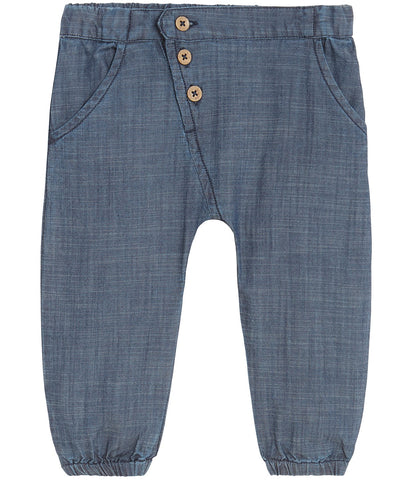 Baby woven denim trousers
