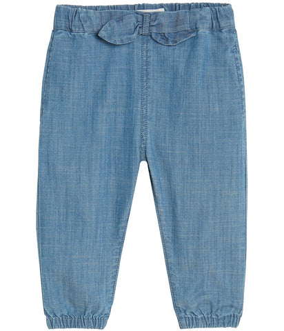 Baby denim trousers with bow