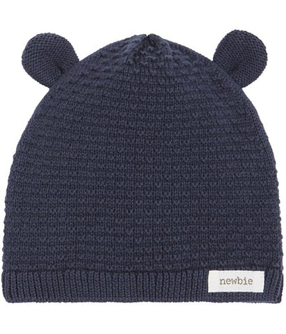 Knitted hat with bar ears