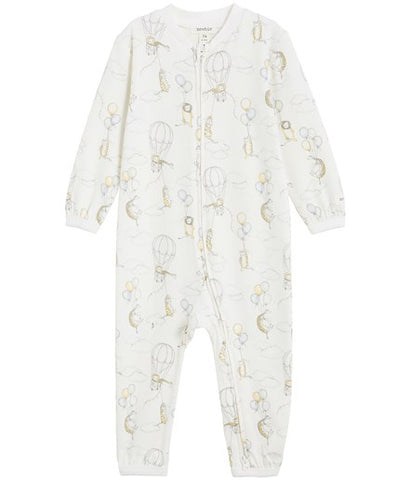 Sleepsuit with animal and balloon print
