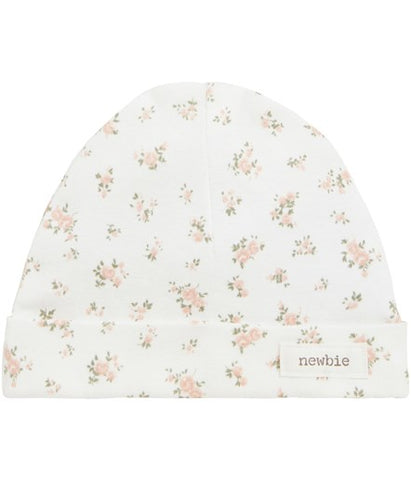 Baby hat with floral pattern