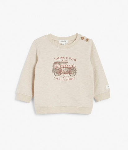 Baby top with tractor print