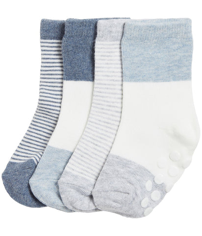 4 pack baby socks in stipes