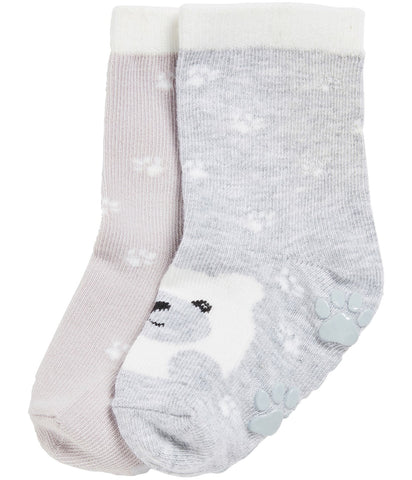 2 pack socks with bear pattern