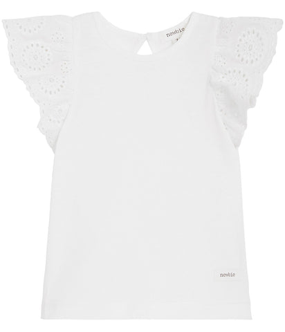 Baby top with lace frills sleeves