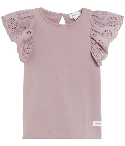 Top with lace frills