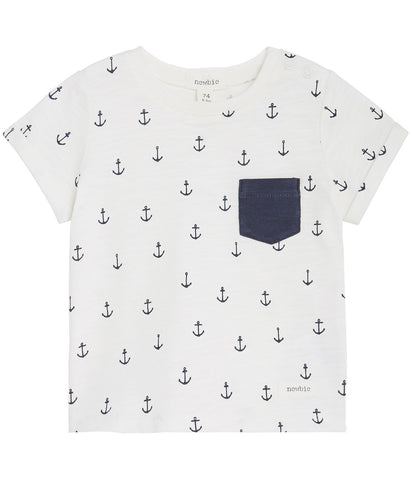 Baby t-shirt with anchor print