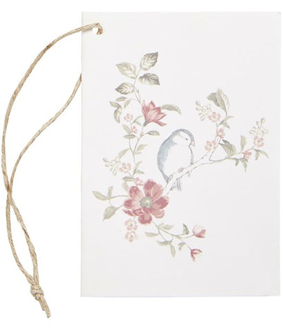 Gift tag with bird print