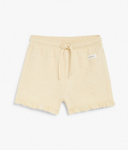 Soft jersey shorts in yellow