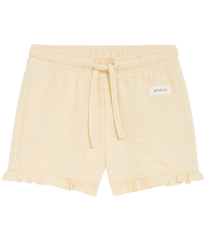 Baby jersey shorts in yellow