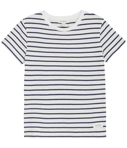 Blue stripe short sleeve t-shirt