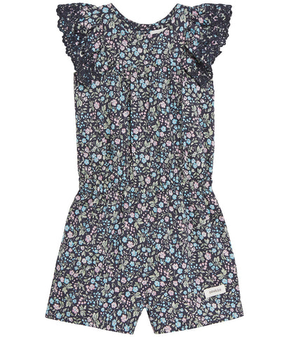 Floral pattern blue playsuit