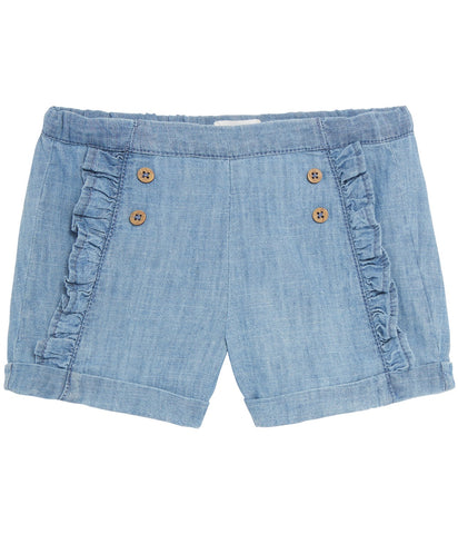 Shorts with frills in blue