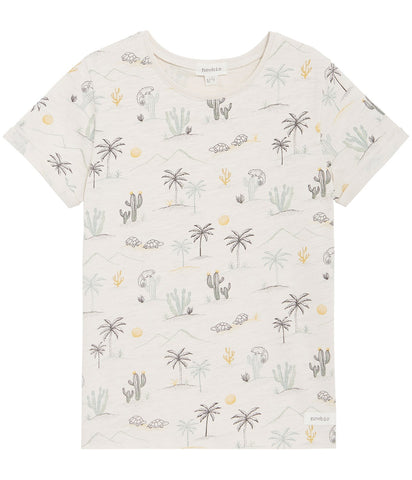 T-shirt with desert print