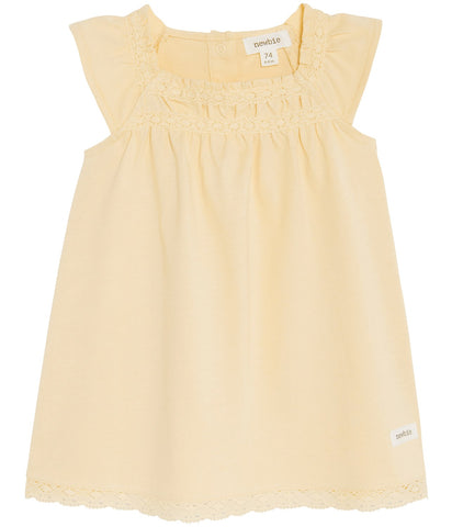 Baby summer dress with lace trims