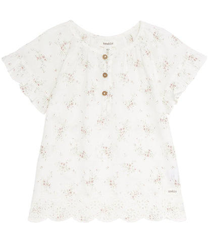 Blouse with dainty floral print