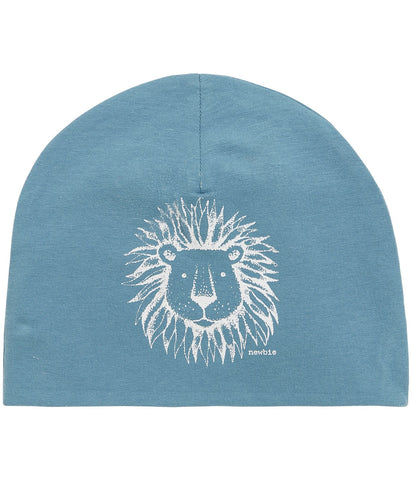 Hat with lion print